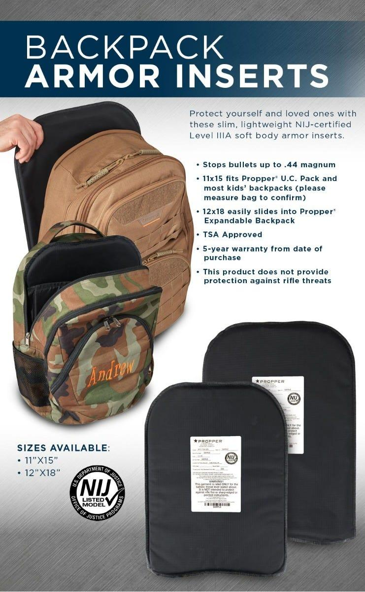 propper backpack inserts infographic