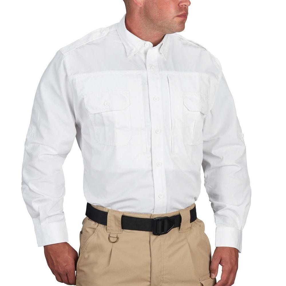 Propper® Men's Long Sleeve Tactical Shirt – Poplin White