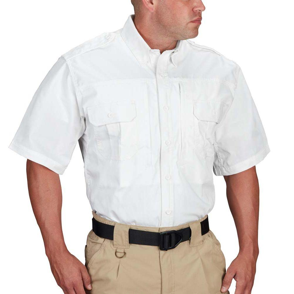Propper® Men's Short Sleeve Tactical Shirt – Poplin White