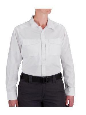 Propper® Women's Long Sleeve RevTac Shirt - Poplin White