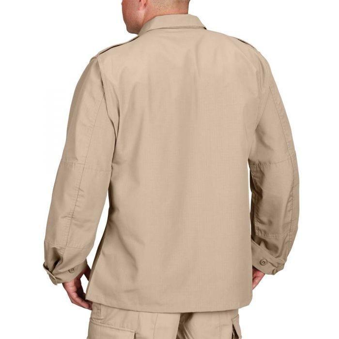Khaki Large Regular Propper Mens Bdu Coat 65//35 Ripstop