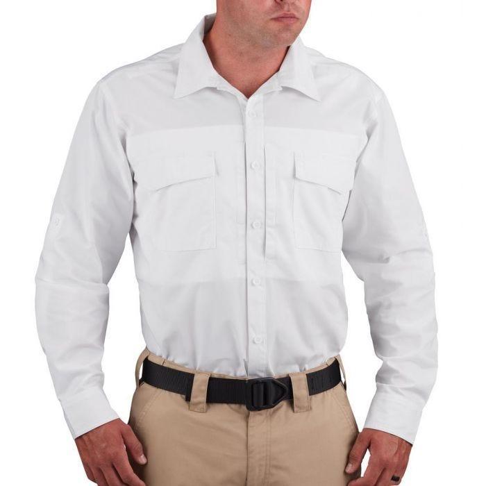 Propper® Men's Long Sleeve RevTac Shirt - Poplin White