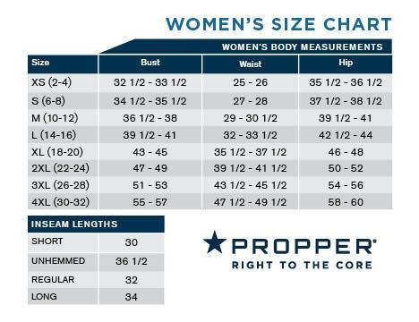 Propper Women's ABU Pants Size Chart
