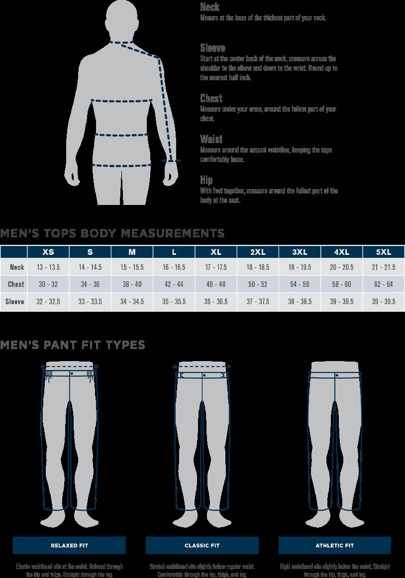 Propper Men's Size Chart