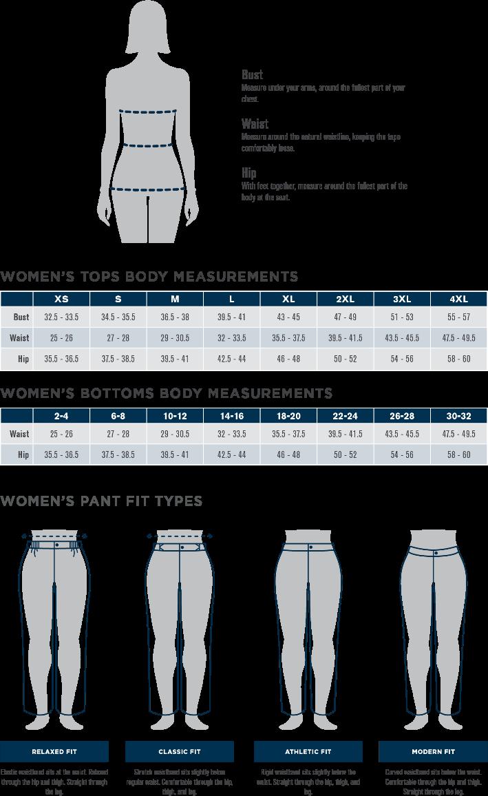 Propper Women's Size Chart