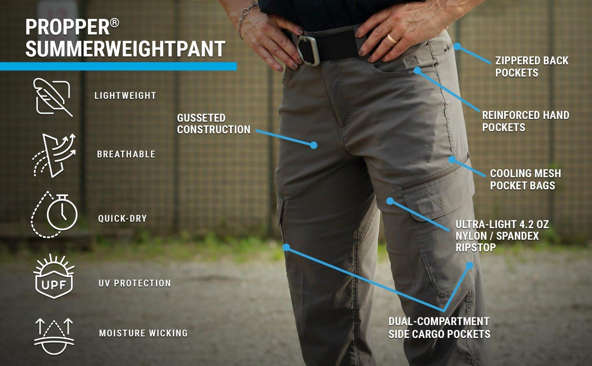 Women's summerweight pants feature gusseted crotch mesh pocket bags, upf protection and are quick-drying