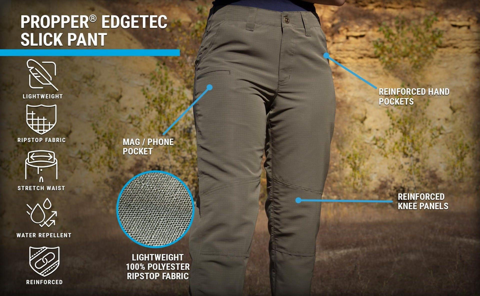 Ranger Edgetec low profile, lightweight ripstop pant on a woman in the woods.
