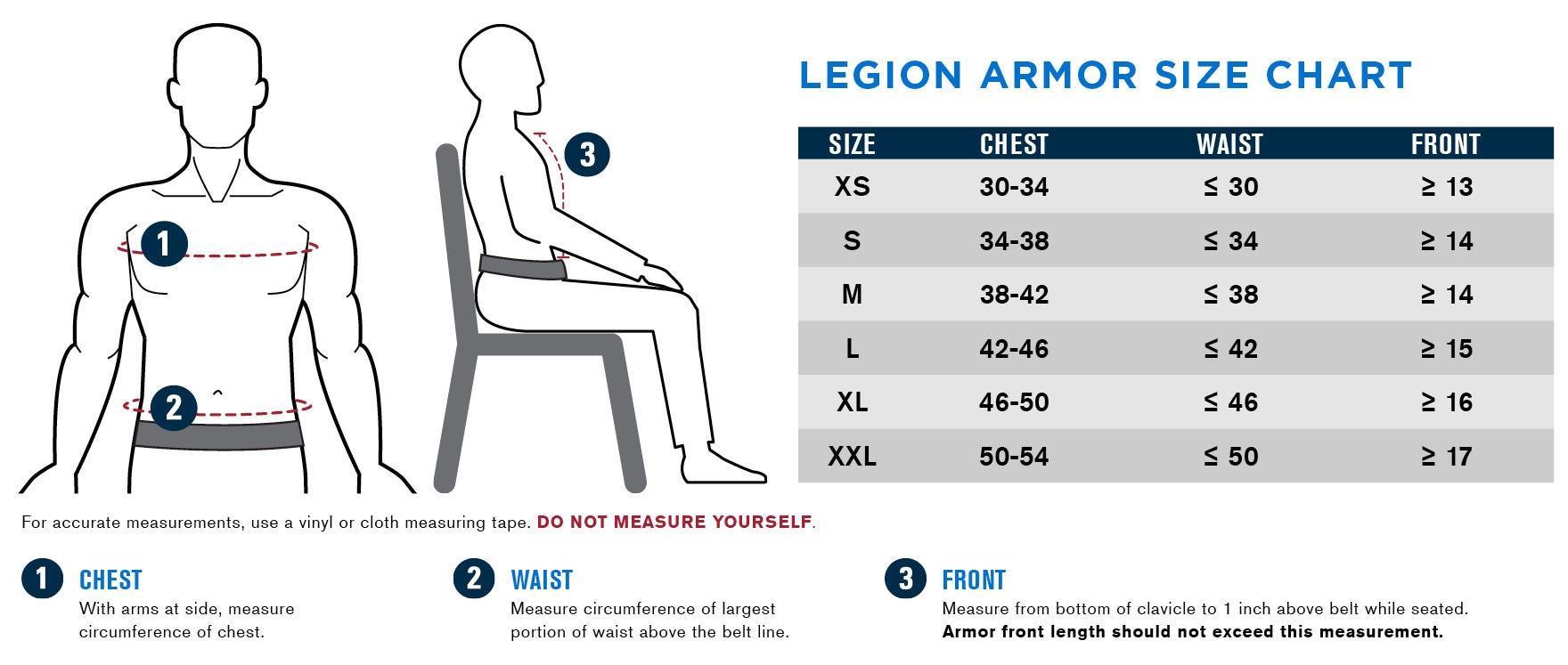 Propper Legion Size Chart